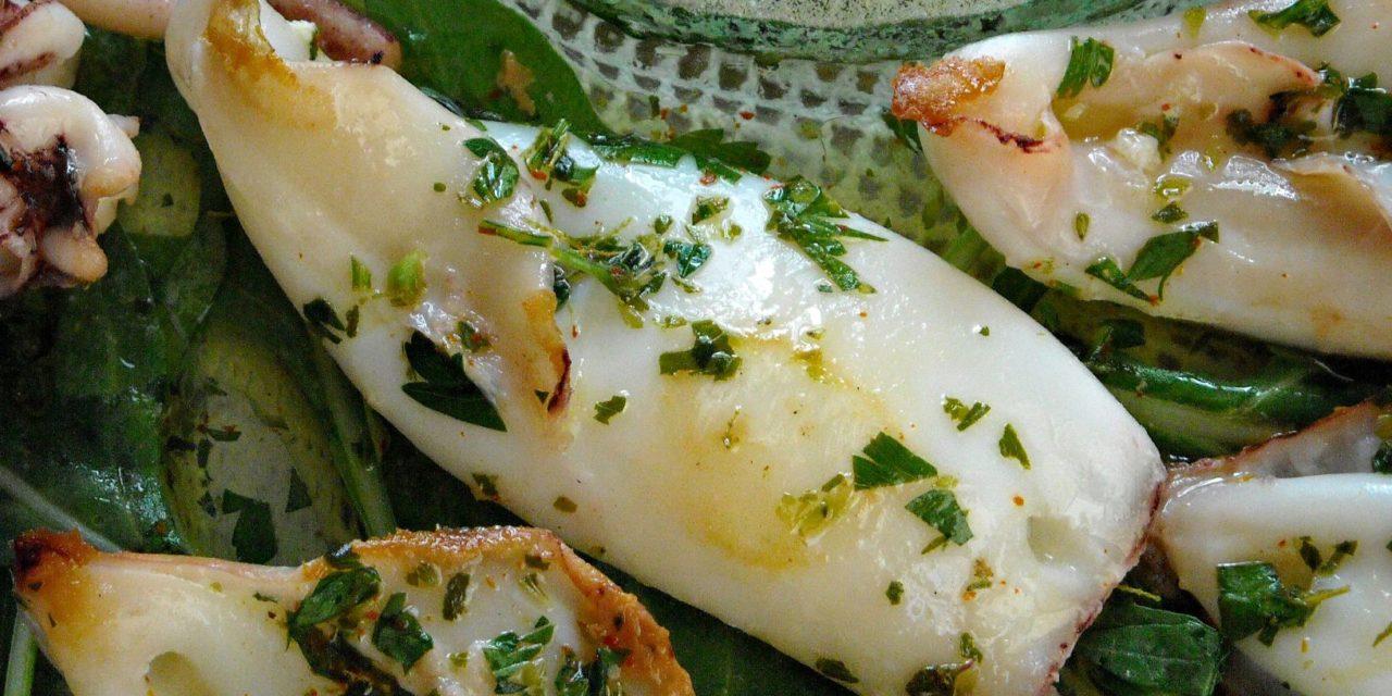 Calamari alla graticola – Gegrilde pijlstaartinktvis