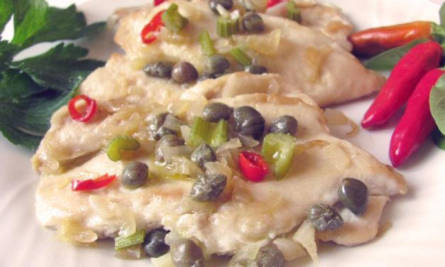 Petto di pollo ai capperi – Kipfilets met kappertjes