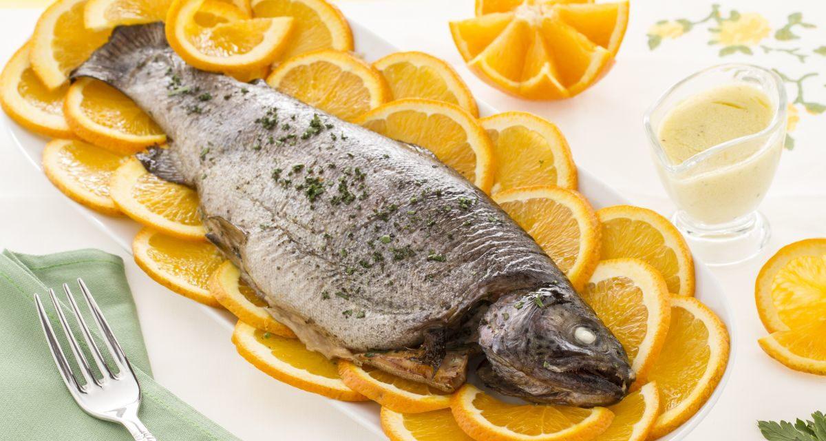 Trota salmonata all'arancia – Zalmforel met sinaasappel-roomsaus