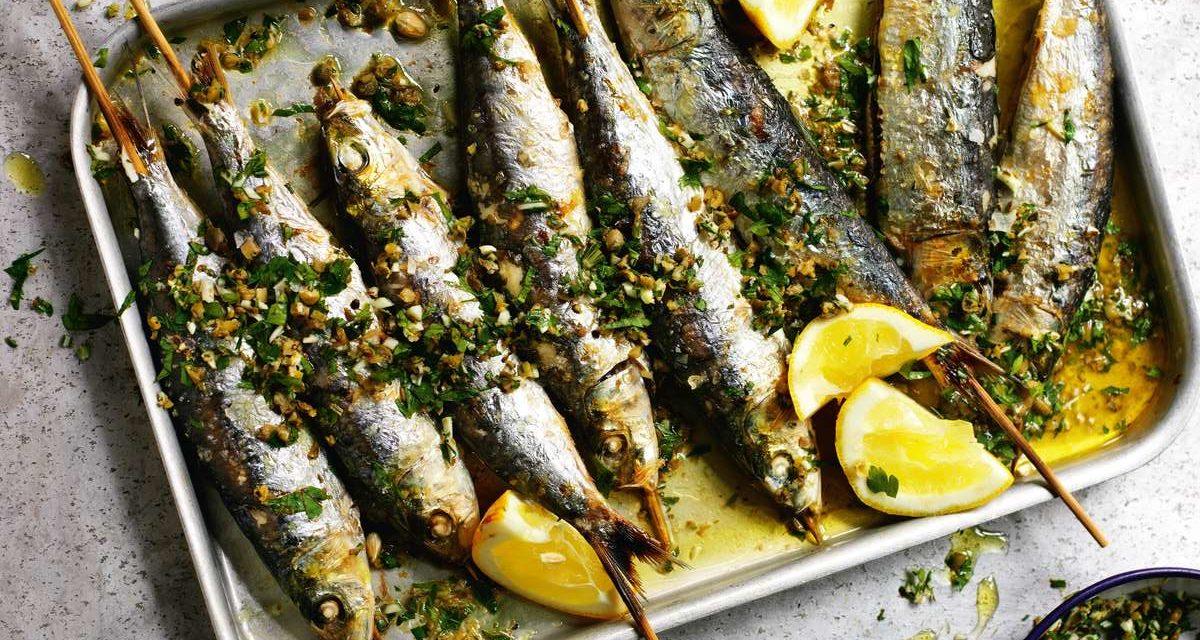 Sarde alla brace – Gegrilde sardines