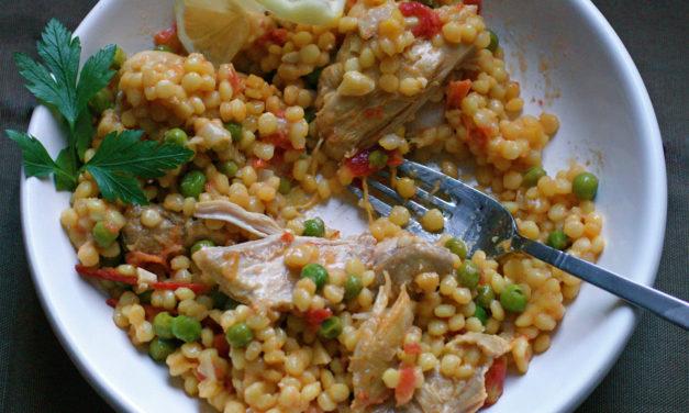 Fregola sarda con pollo – Parelcouscous met kip