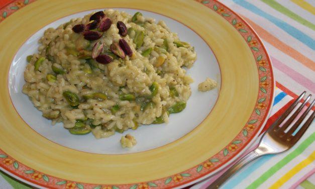 Risotto verde al pesto di pistacchio – Groene risotto met pesto van pistachenoten