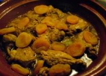 Tajine di Coniglio con Albicocche Secche - Tajine van konijn met gedroogde abrikozen