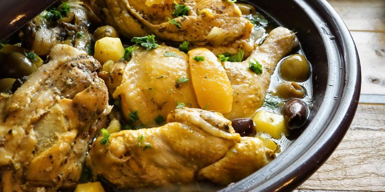 Tajine met kip, olijf en ingemaakte citroen