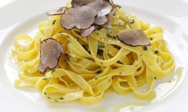 Fettucine al tartufo – Lintpasta met truffel