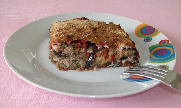 Parmigiano di pesce – Visschotel met aubergines