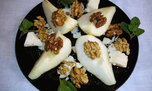 Parmigiano con le pere e noci – Parmezaanse kaas met peer en walnoot