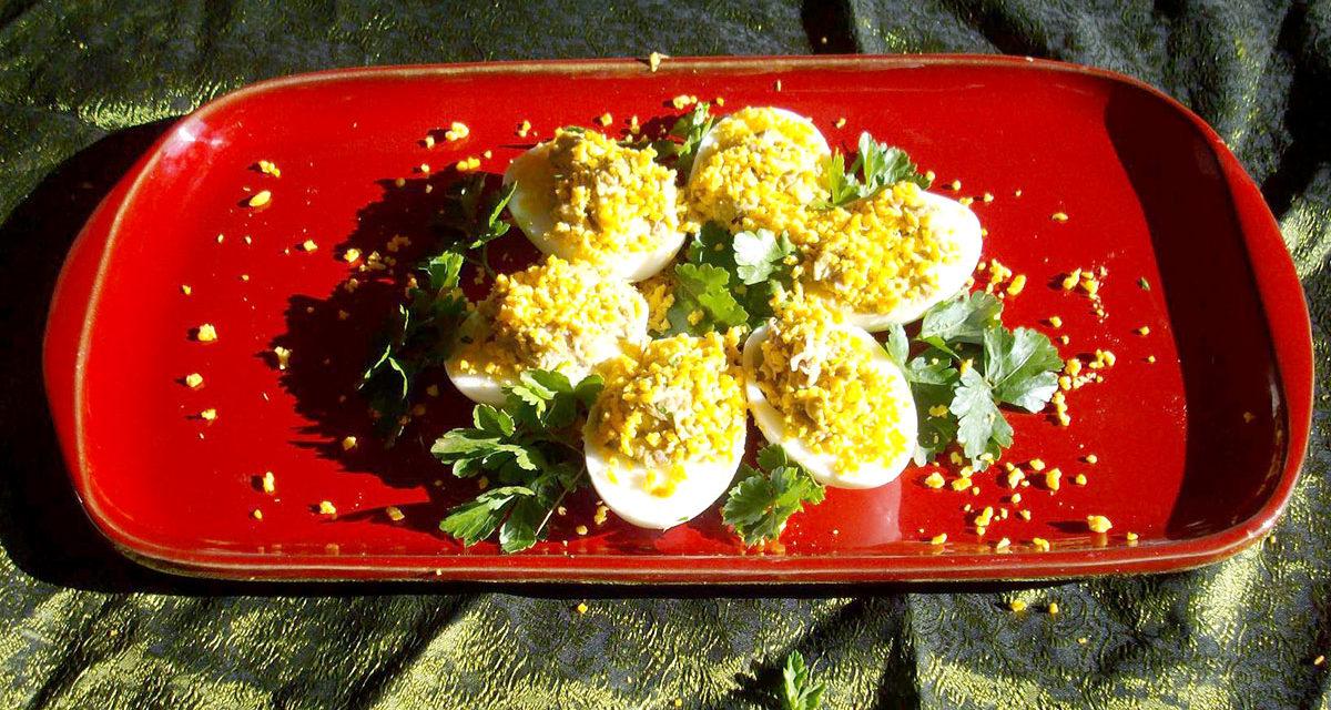 Uova mimosa – Mimosa eieren