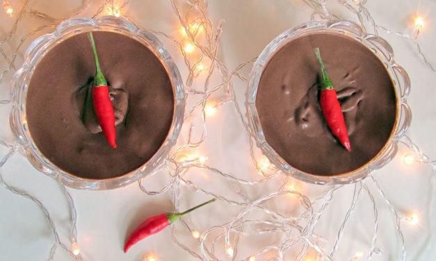 Mousse di cioccolato con peperoncino – Chocolademousse met Spaanse peper