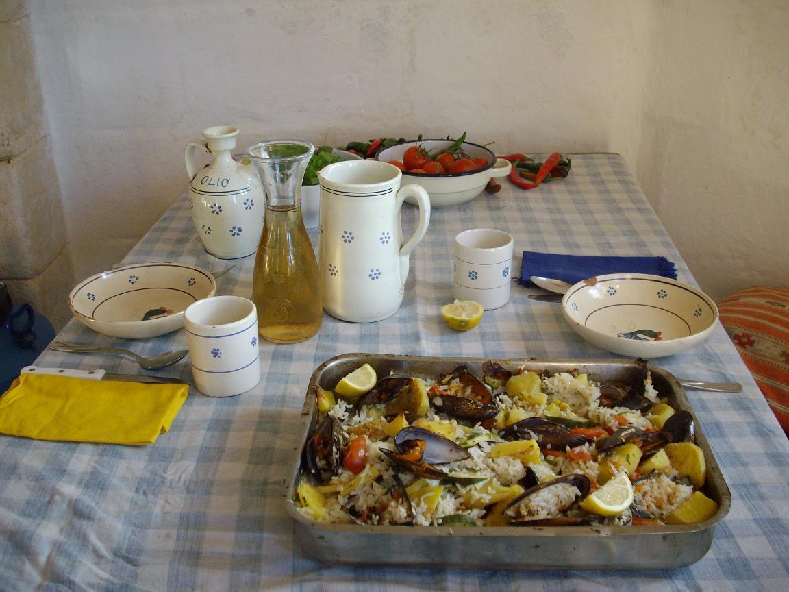 Riso, patate e cozze – Rijst met aardappelen en mosselen