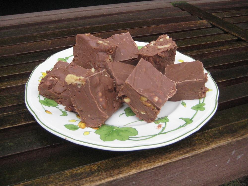 Chocolade fudge en Fritole