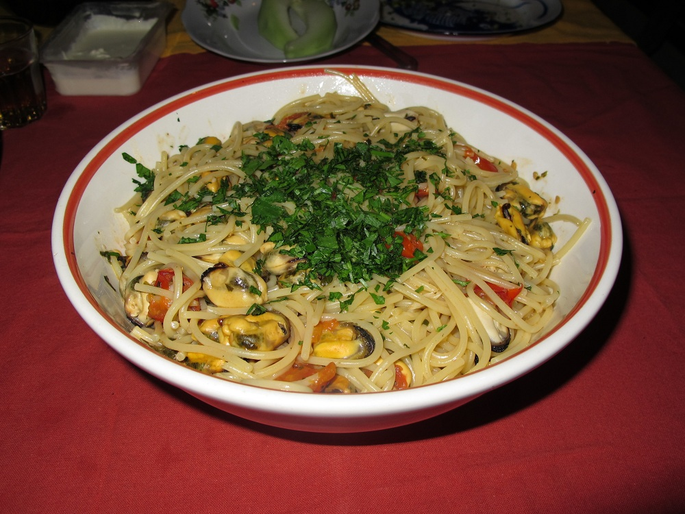 Spaghetti con le cozze – Spaghetti met mosselen