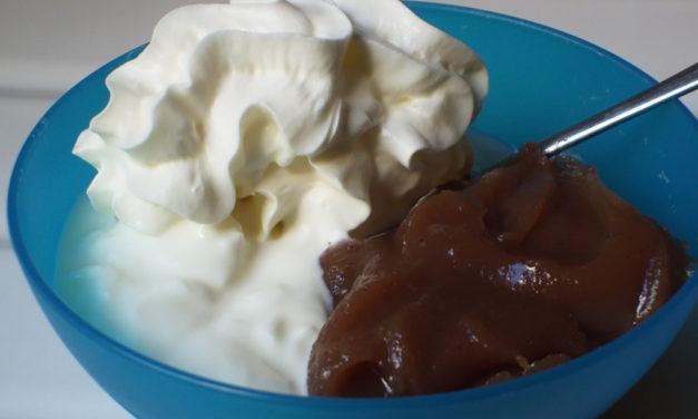 Fromage blanc avec marrons vanillée