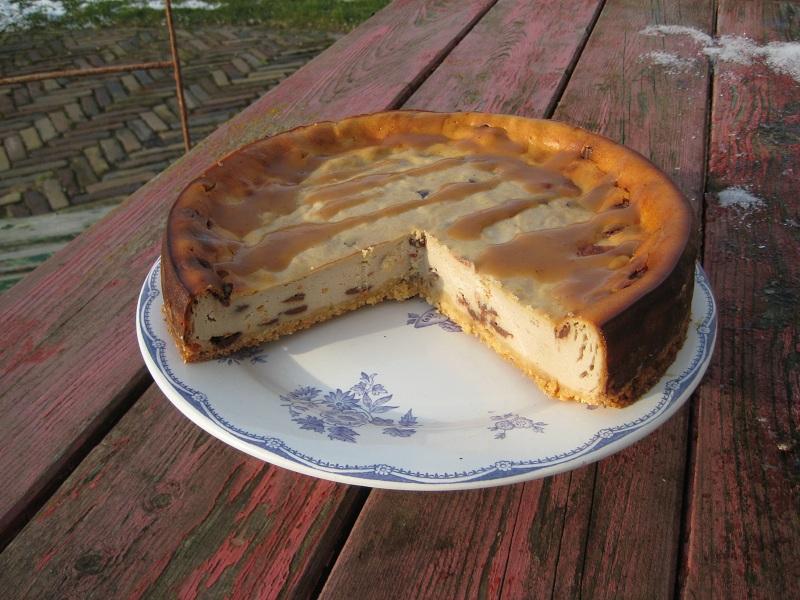 Cheesecake met kastanje, sinaasappel en chocola