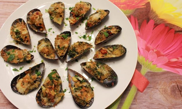 Cozze gratinate – Gegratineerde mosselen