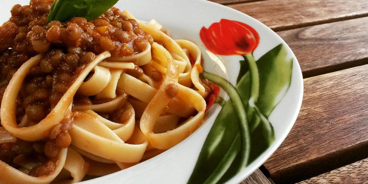 Tagliatelle con ragù di verdure – Tagliatelle met groenteragout
