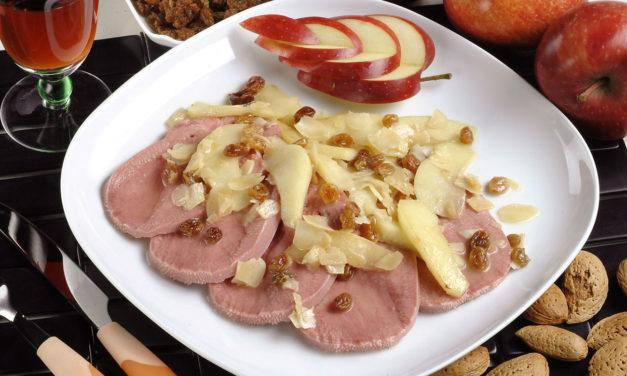 Lingua di vitello con mele e mandorle – Kalfstong met appel en amandelen
