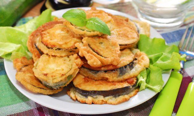 Melanzane fritte in pastella – In beslag gefrituurde aubergines