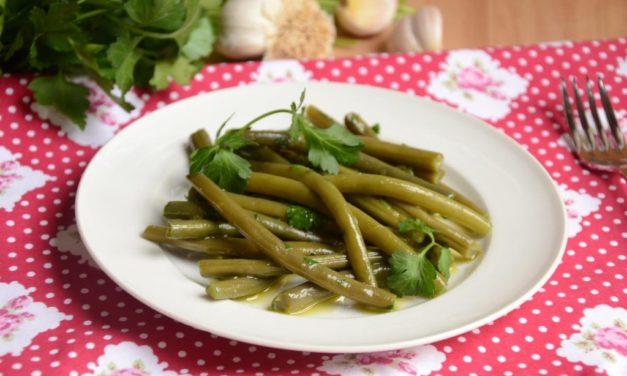 Fagiolini all'aglio – Sperzieboontjes met knoflook