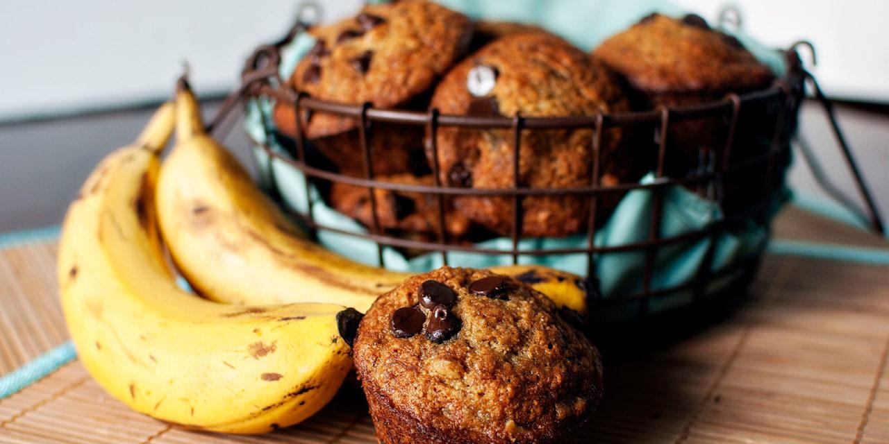 Muffins met banaan en chocola