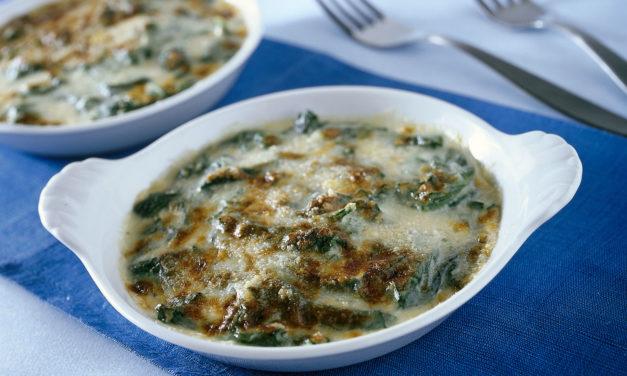 Spinaci gratinati – Gegratineerde spinazie