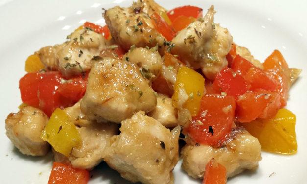 Pollo in padella con peperoni – Kip in het pannetje met paprika