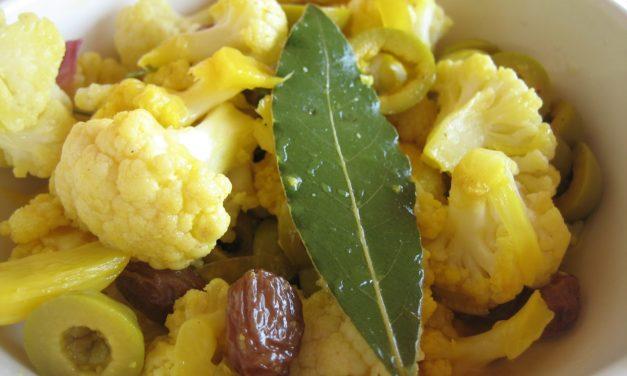 Cavolfiore con zafferano – Bloemkool met saffraan