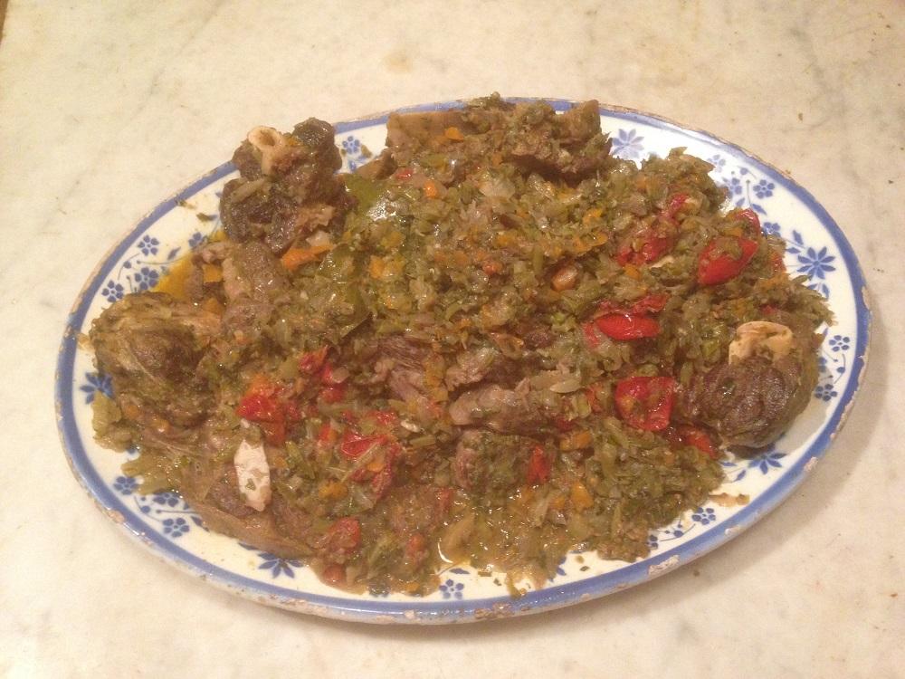 Pignata di pecora – Stoofschotel met schapenvlees