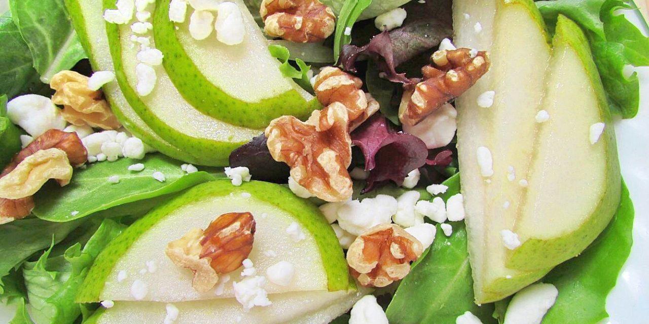 Salade met walnoot en peer