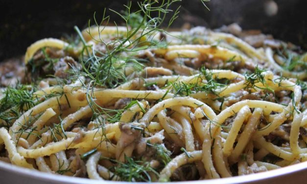 Spaghetti con le sarde – Spaghetti met sardines