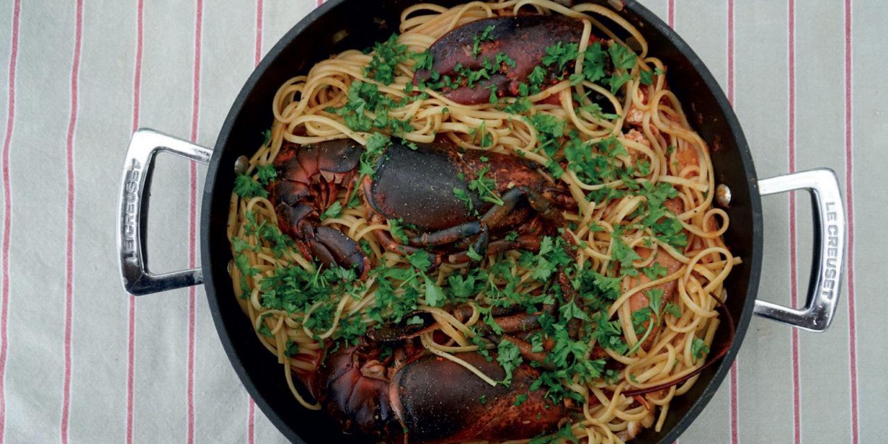 Linguine con l'astice – Platte spaghetti met kreeft