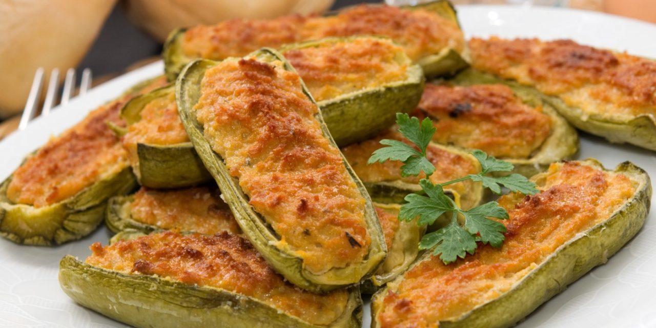 Zucchine ripiene vegetariane – Vegetarische gevulde courgettes